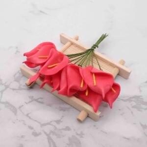 Image 2 - 144pcs מיני קצף כלה לילי מזויף פרחים זר פרחים מלאכותיים לקישוט חתונה חג אהבת קישוט הווה. ש