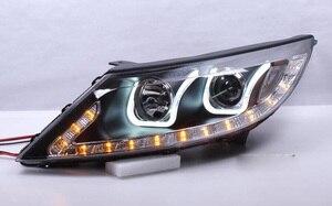 Image 2 - KlA SportageR faro delantero, 2011 ~ 2014, luz diurna SportageR, accesorios para coche, sportage,sportage R, envío gratis