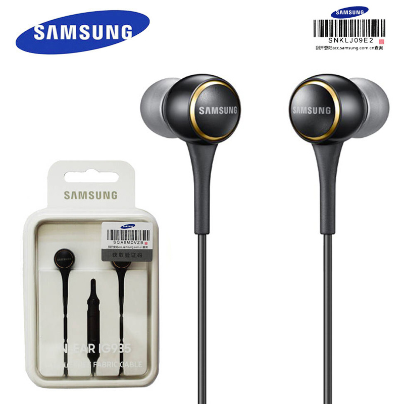SAMSUNG Original EO-IG935 In-ear Sport Headsets Music Earphones Black / White Stereo Bass 3.5mm for Android Music phones gbtiger black