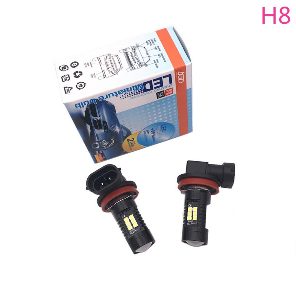 1 X New Fashion Car Led Lamp H8 LED Fog Driving Car Head Lights Lamp Bulb