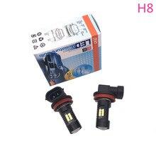 1 х Новый Модный Автомобильный светодиодный светильник H8 светодиодный противотуманные Автомобильные фары лампа супер белый 6000 K