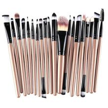 Paradise 2016 New fashion design 20 pcs Makeup Brush Set tools Toiletry Kit Wool Synthetic Hair   Free Shipping Apr26