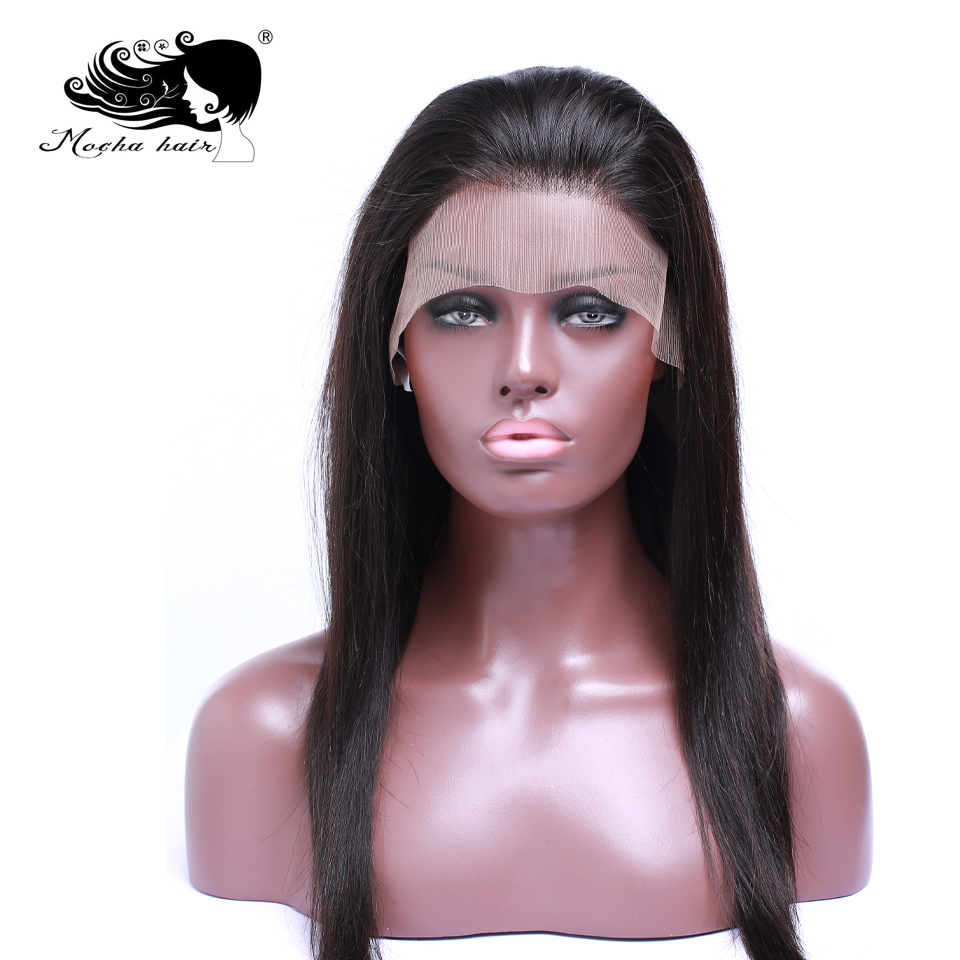 Mocha Hair Human Hair  Lace Front Wigs Pre Plucked Natural Hairline With Baby Hair Straight Brazilian Remy  Hair Wigs