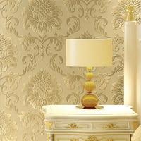Beibehang Luxurious European 3d Wallpaper Living Room Bedroom TV Background Wallpaper 4D Fine Embossed Damascus Wallpaper