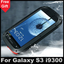 S3 Waterproof Dirtproof Shockproof Aluminum + Gorilla Glass case for Samsung Galaxy S3 i9300 cover