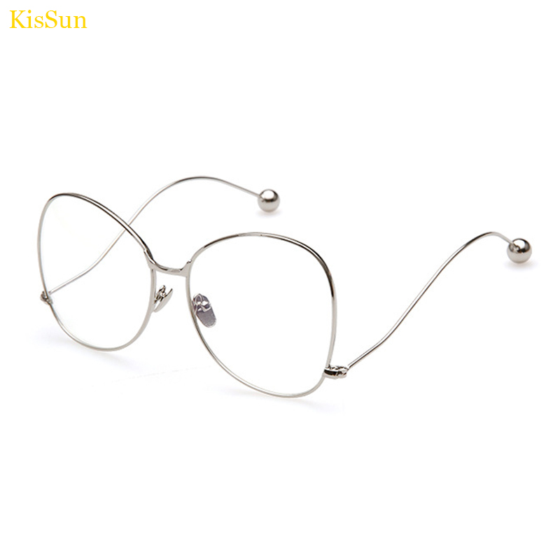 new oversized eyeglass frame eyewear gold butterfly transparent glasses for women clear fashion glassesspectacle frame for