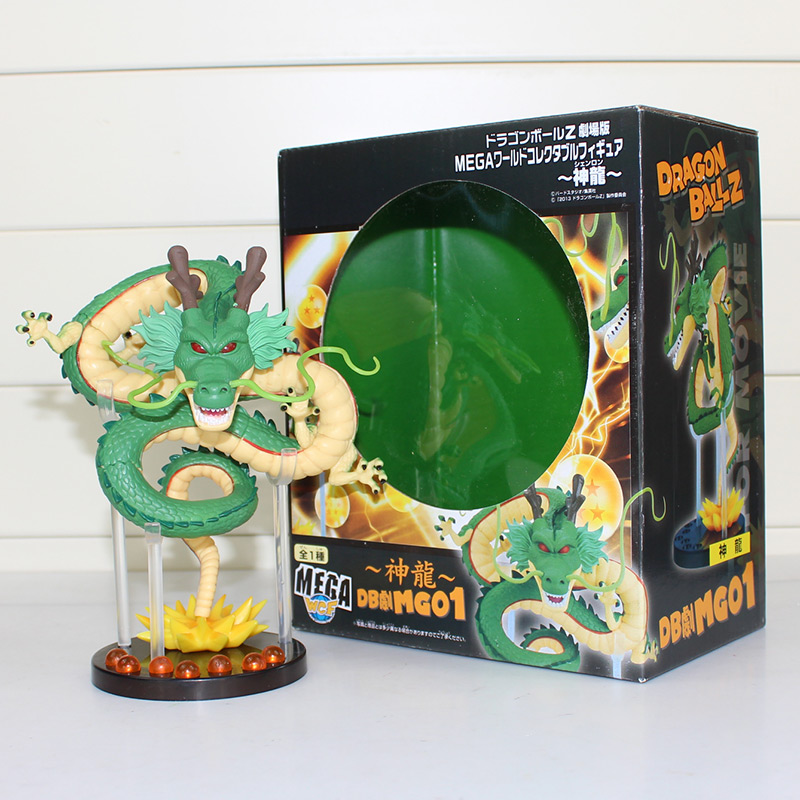 20cm Dragon Ball Z ShenRon ShenLong PVC Action Figure Toy Collectible Model Toys With Box j g chen anime cartoon dragon ball z shenron shenlong gold pvc action figure collectible model toy free shipping