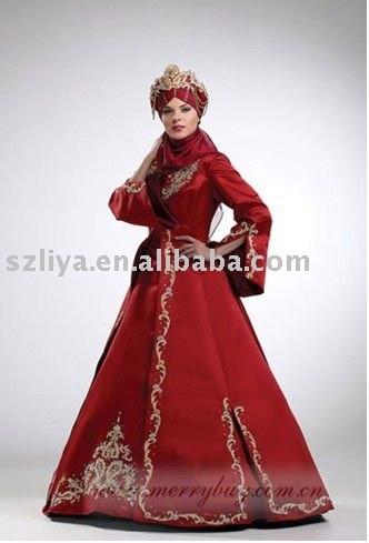 Hot Red Muslim Wedding Dresses