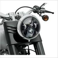 1pcs 7 Round LED Projection Headlight hi lo beam 7 inch headlamp for Motorcycles