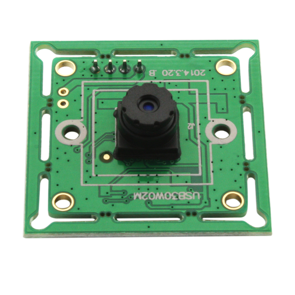 640*480P 300K pixels VGA USB2.0 OmniVision OV7725 Color CMOS Sensor Board USB Camera with M7 45degree lens