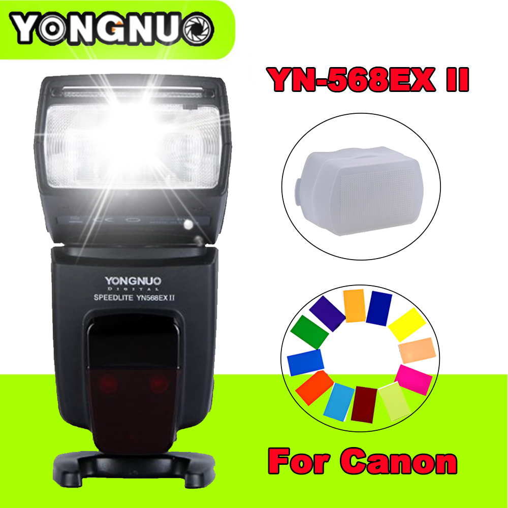 Yongnuo YN-568EX II YN568EX II Wireless TTL HSS Flash Speedlite for Canon 6d 60d 5d mark iii 550d 1100d 650d 600d 700d 7d Camera yongnuo 3x yn 600ex rt ii 2 4g wireless hss 1 8000s master flash speedlite yn e3 rt flash trigger for canon eos camera 5d 6d