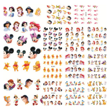 11 ontwerpen / set Cartoon Stickers Tips Nail Art Water Transfers Decals Wraps 11 Patroon Water Transfer Nail Sticker BLE488-498