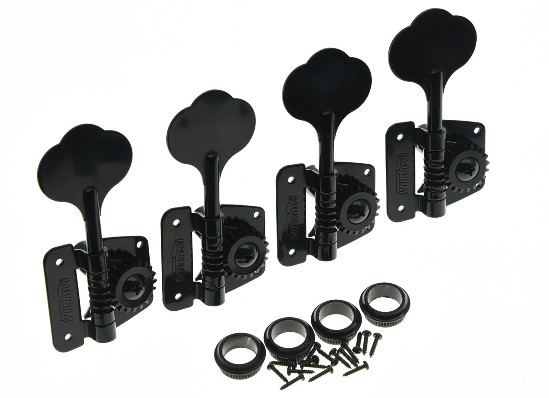 Quality Wilkinson 4 Right Handed Bass Tuners WJBL-200 Tuning Keys Machine Heads Black the black keys the black keys el camino 2 lp