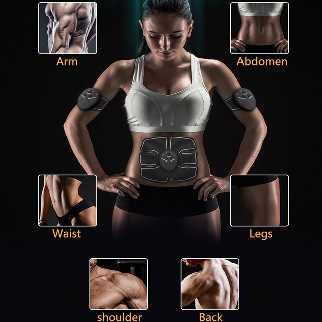Wireless Electric muscle stimulator Abdominal machine ABS ems Trainer fitness Weight loss Body beauty slimming Massage  5