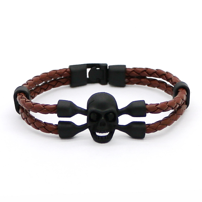 HOT New Fashion Black Alloy Mænds Armbånd Høj kvalitet Retro - Mode smykker - Foto 6