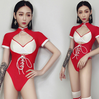 New Sexy Bodysuit For Women Nightclub Summer Red Clothing GoGo Dance Bar Female Rave Clothes DJ Pole Stage Dance Wear BL1676