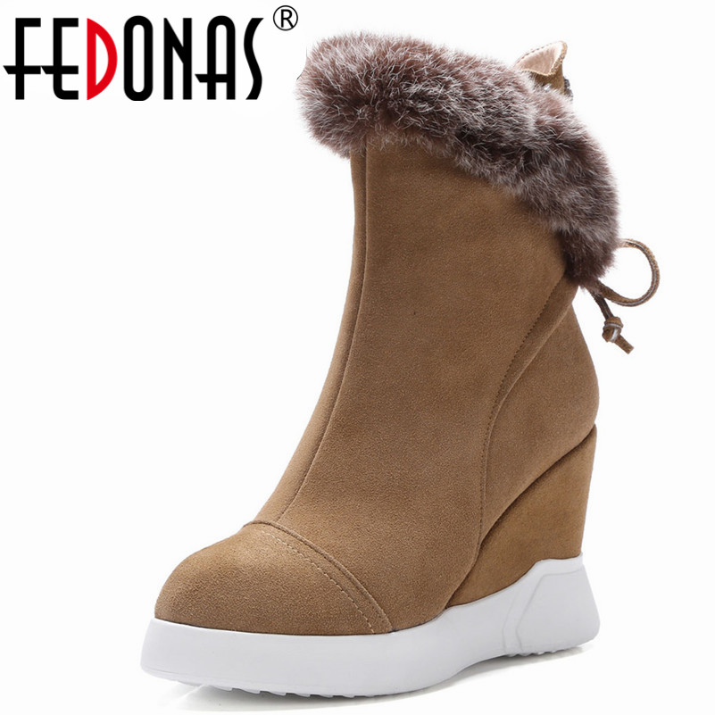 FEDONAS New Women Ankle Boots Autumn Winter Warm Cow Suede High Heels Shoes Woman Pointed Toe Rhinestone Decoration Basic Shoes цены