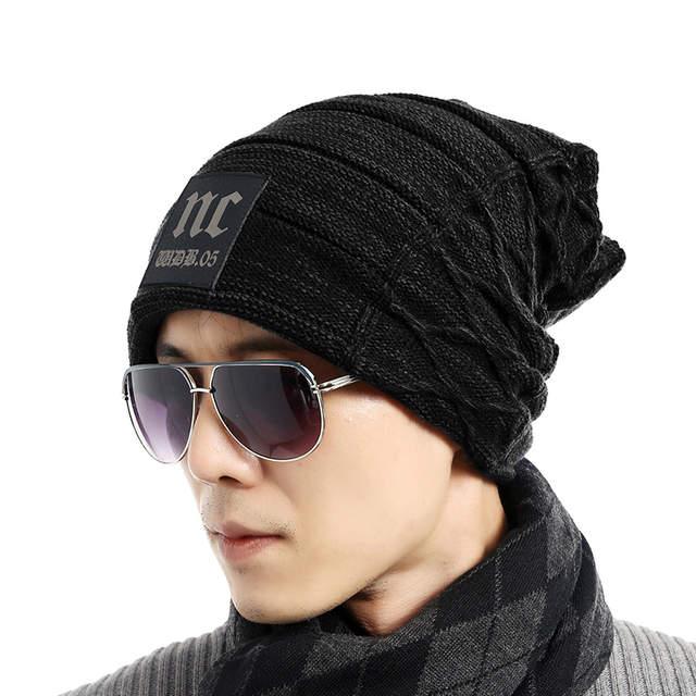 8bfddf657e0f5 Online Shop FETSBUY Brand Beanies Knit Men S Winter Hat Caps Thick Skullies  Bonnet Hats For Men Women Beanie Female Warm Baggy Knitted Hat