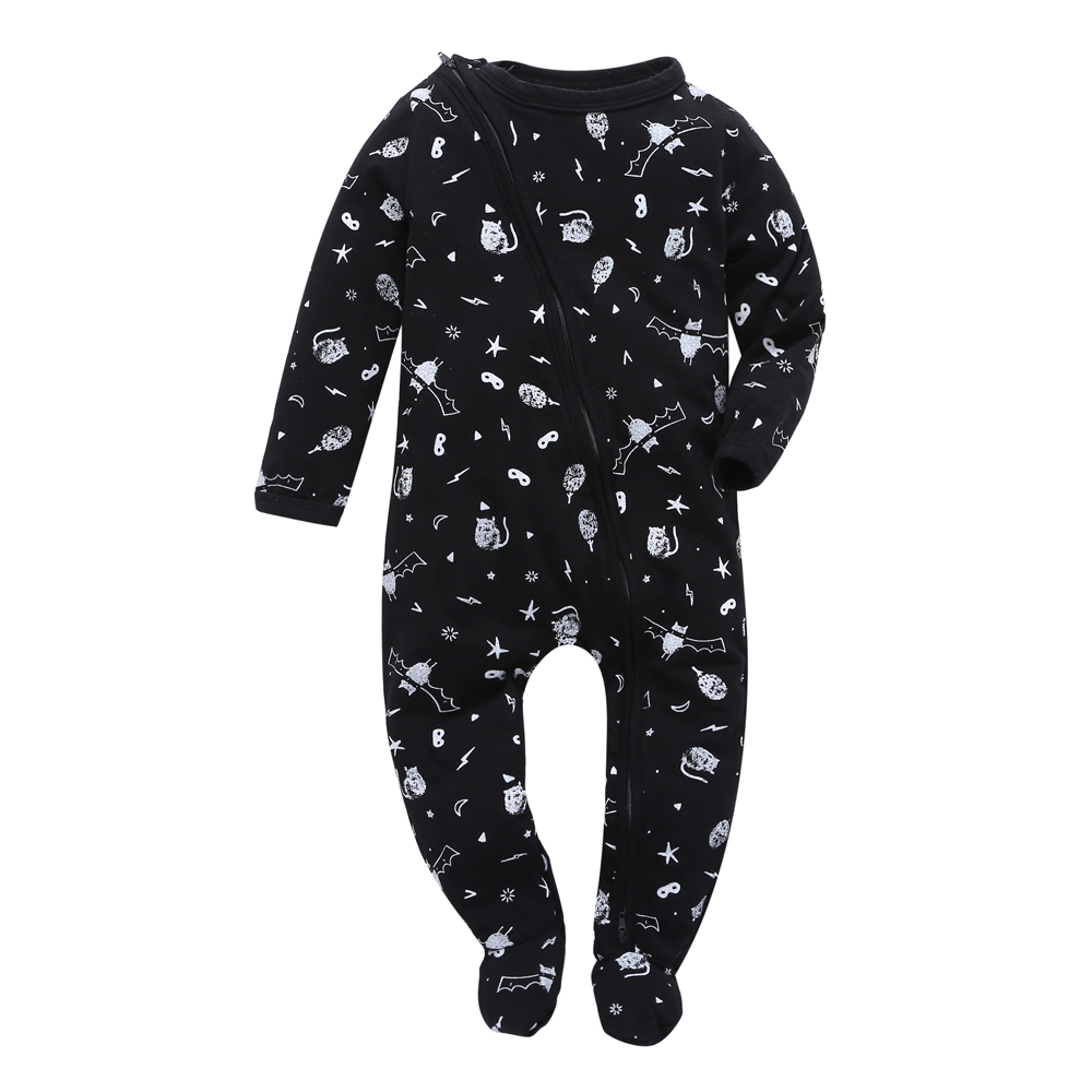 2019 NEW Baby   Rompers   Winter black Baby boy Clothing Long Sleeve Cotton Jumpsuit Kids Newborn toddler Infant Pajamas Outfits
