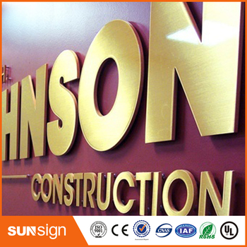 цена на China supplier 3d led stainless steel metal letter sign