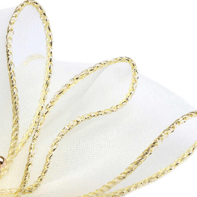 Трехмерный цветок тиара украшения для волос шпилька органза заколка в виде бантика Корона Топ заколки для волос