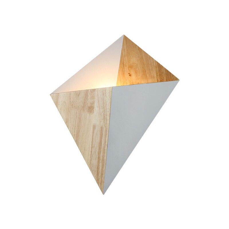Пост современный роскошный простой деревянной искусство сплайсинга Настенные светильники Спальня Скандинавский узор резьба украшения св