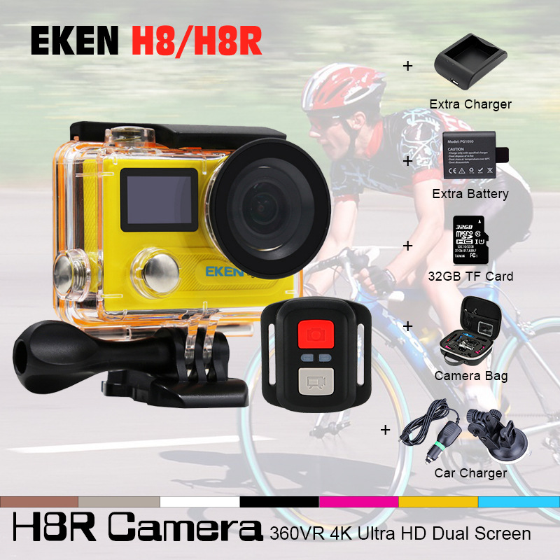 EKEN H8R H8 font b Action b font Camera VR360 Ultra 4K 30fps 14MP 2 0
