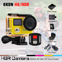 EKEN H8R H8 Action Camera VR360 Ultra 4K/30fps 14MP 2.0″Dual Dual LCD Mini Cam Go 30M Waterproof Pro Sports Camera Camcorder