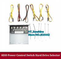 new arrived PH006 HDD Power Control Switch Hard Drive Selector SATA Drive Switcher For Desktop PC Computer Switches free shippin