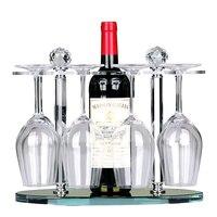 Crystal wine rack high goblet holder creative European upside down wine glass shelf living room decoration wx7171010
