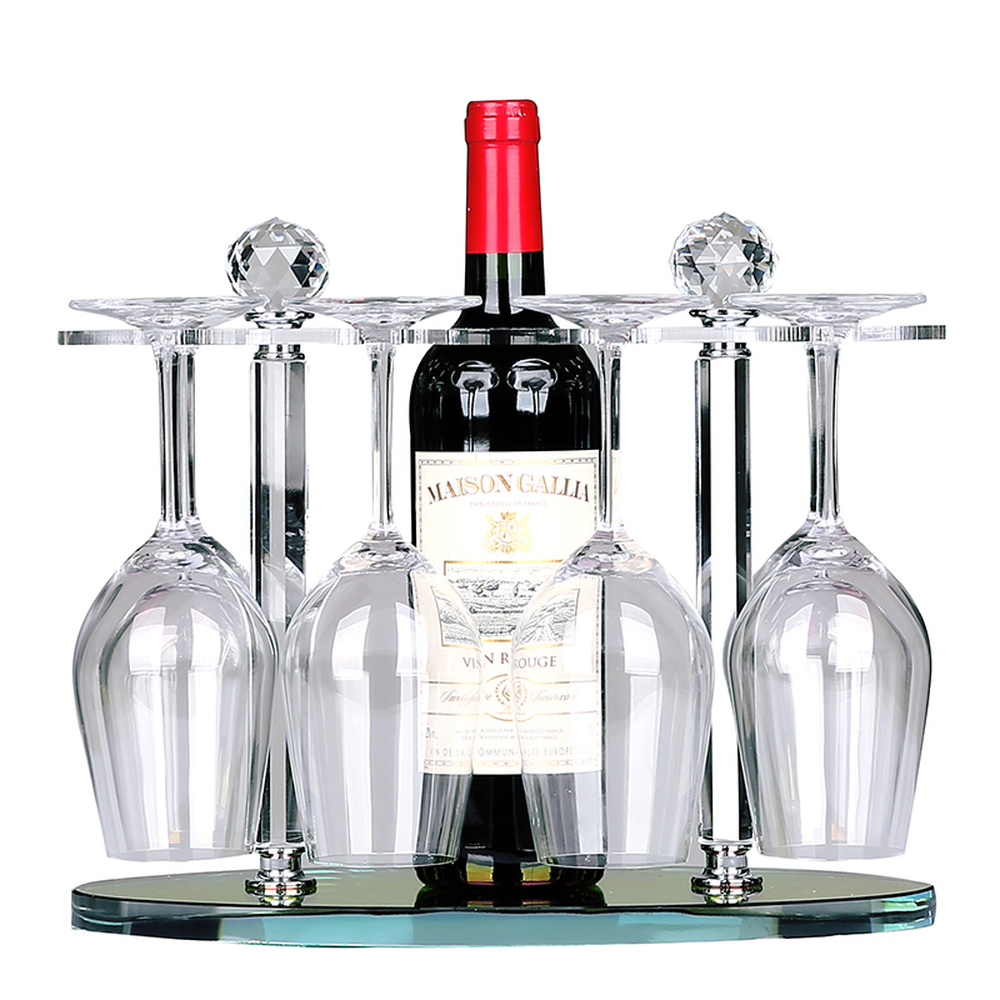 Crystal wine rack high goblet holder creative European upside down wine glass shelf living room decoration wx7171010 a1 creative household wine bottle rack wine glass holder high cup rack hanging glass shelf wx6291346