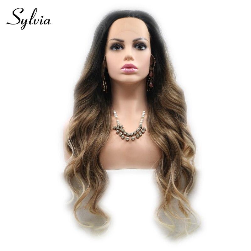 Sylvia mezcló las pelucas delanteras del cordón sintético de la - Cabello sintético