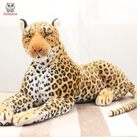 BOLAFYNIA Children plush stuffed toy leopard baby kids plush toy for Christmas birthday gift Simulated leopard