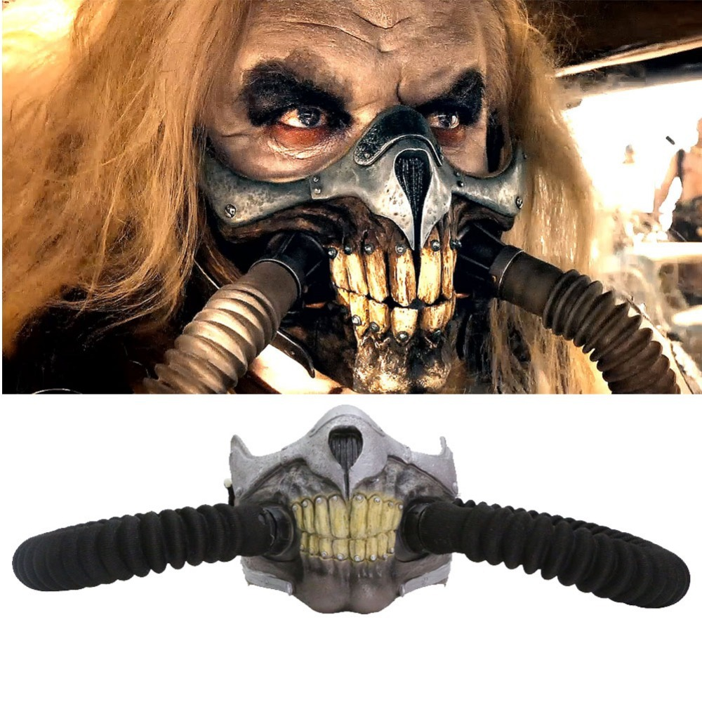 Immortan Joe Mask Mad Max 4 Fury Road Cosplay Cool PVC Half Face ...