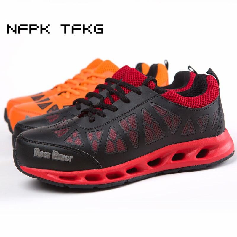 plus size mens fashion steel toe cap work safety shoes lace up platform labor insurance shoe construction site security boots цена 2017