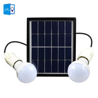 DBF Waterproof IP65 Solar Powered LED Bulb Solar Light Outdoor Security Double Bulbs Garden Yard