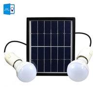 DBF Waterproof IP65 Solar Powered LED Bulb Solar Light Outdoor Security Double Bulbs Garden Yard