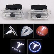 2 шт./лот светодио дный LED вежливость Призрак Тень Добро пожаловать Свет лазерный логотип проектор двери лампы для Tesla модель S модель X модель 3 модель Y