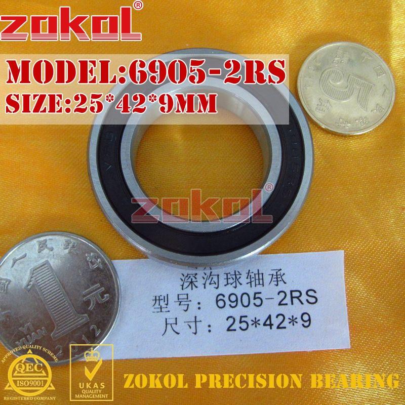 ZOKOL 6905 RS Bearing 6905 2RS ZZ 6905ZZ Z1 6905 Deep Groove Ball Bearing 25*42*9mm