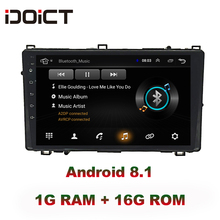 IDOICT Android 8 1 font b Car b font DVD Player GPS Navigation Multimedia For Toyota