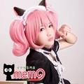 Roromiya Karuta pink culy chip high temperature wire cosplay anime wig