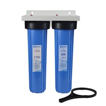 2 Stage Pre-Filtration 20 Big Blue Water Filter,1 inlet&outlet connection