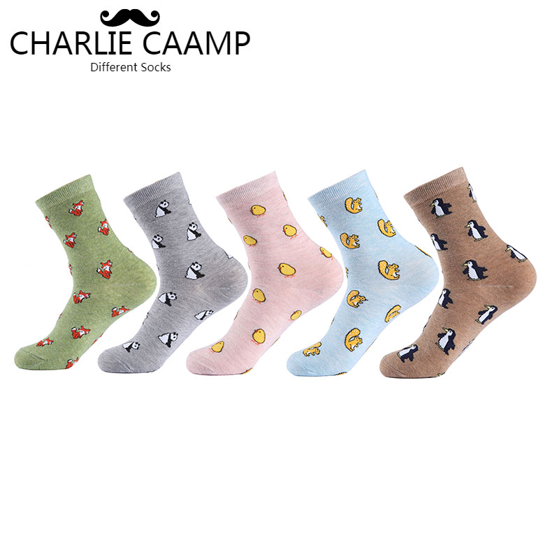 Women New Cotton   Socks   All Season Fashion Cartoon Solid Color Jacquard Cartoon Pattern Ladies Simple Comfortable   Socks   G110