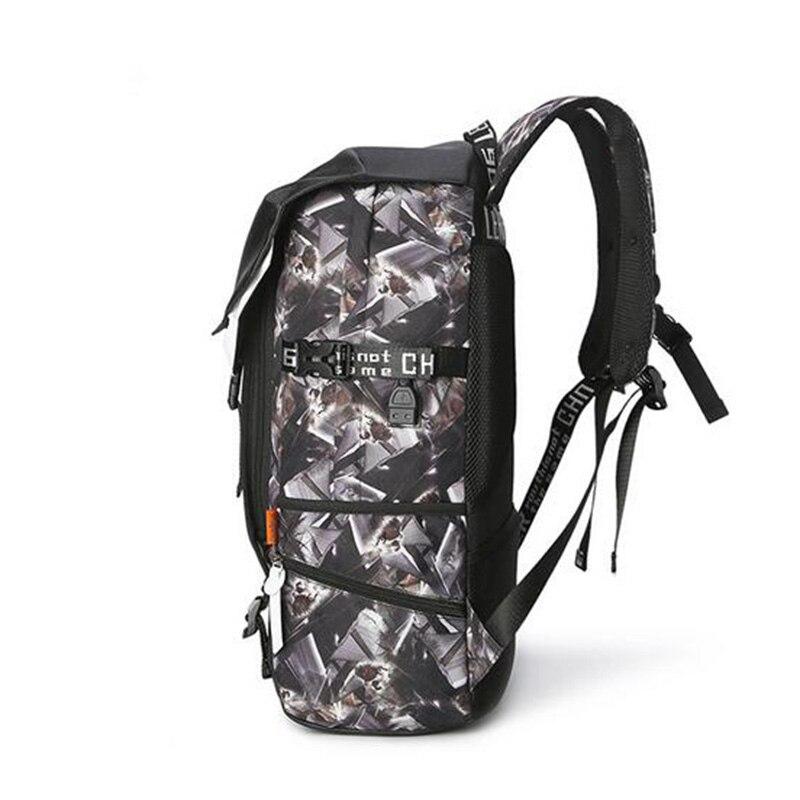 Leaper sac à dos hommes Usb Charge impression Designer sac à dos pour ordinateur portable 15.6 pouces étudiant Oxford sacs d'école pour adolescents étanche - 3