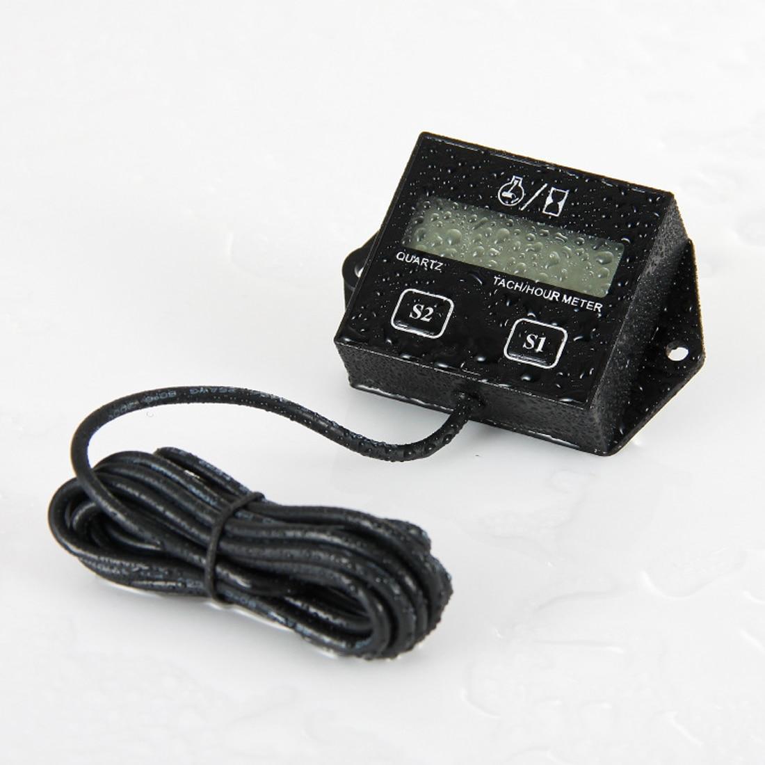 1 pz di Alta Qualità Digitale Del Motore Tachimetro Tacho Meter Toerenteller Tester di Ora Induttivo per il Motociclo Motore