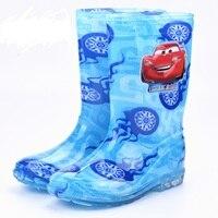 2017 Cartoon Rain Boots Boy Girls Spiderman Shoes For Boys High Children Rubber Boots Kids Rain