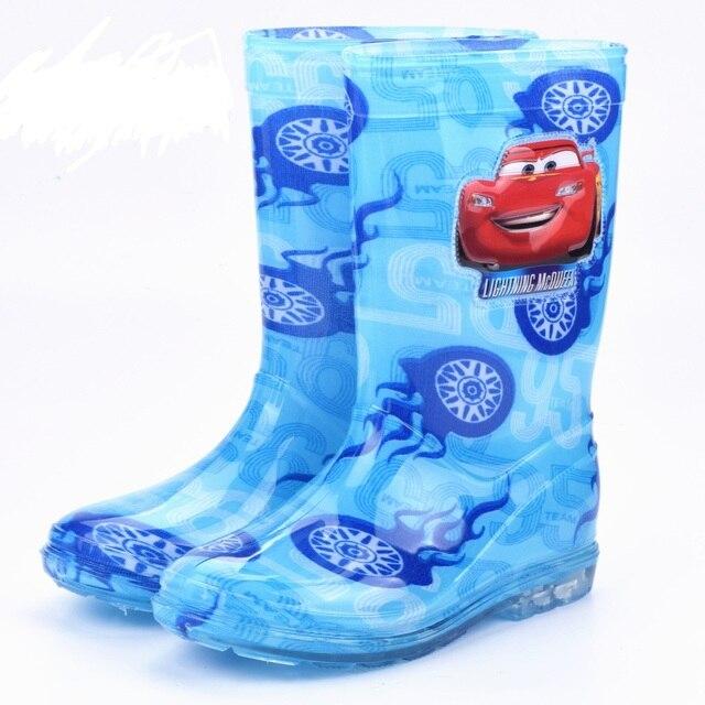 2017 cartoon rain boots boy girls spiderman shoes for boys high