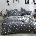 Черный  белый  серый постельные принадлежности 3/4 шт. Плед узор постельное белье пододеяльник простыня наволочки хлопковый комплект