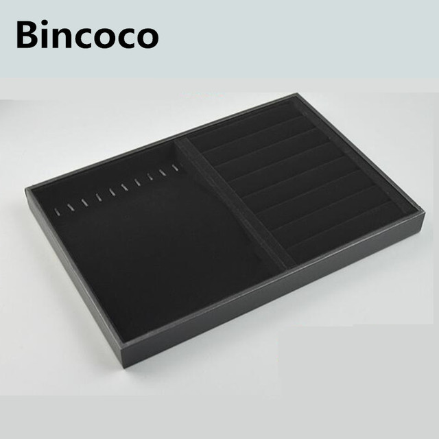 Bincoco Jewelry Display Trays For Store Stackable Black Trays
