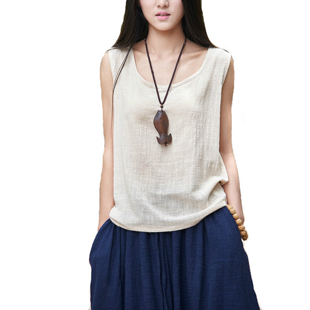 Great Summer Cotton Tank Tops For Women Sleeveless Vest Ladies Linen Tank Top  Fresh Spring Top Candy Images